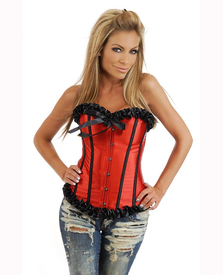 Wholesale red corset bustier OUC1051